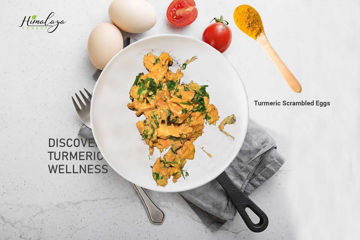 Super Healthy and Tasty Turmeric Scrambled Eggs