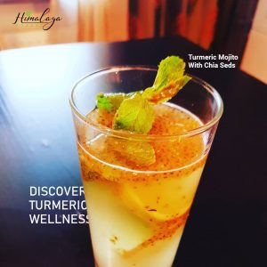 Turmeric Mojito With Chia Seeds Himalaya Forest